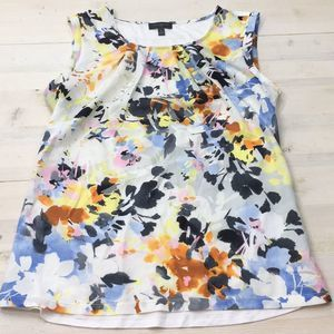 The Limited floral tank blouse sz S